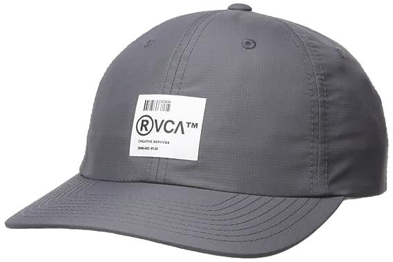 577e15a9 Amazon.com: RVCA Men's Barcode Strapback Hat, Smoke EA: Clothing