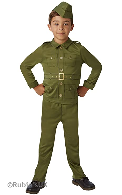 WW2 Army Boy - Childrens Fancy Dress Costume - Age 9-10 - 140cm  sc 1 st  Amazon.com & Amazon.com: WW2 Army Boy - Childrens Fancy Dress Costume - Age 9-10 ...