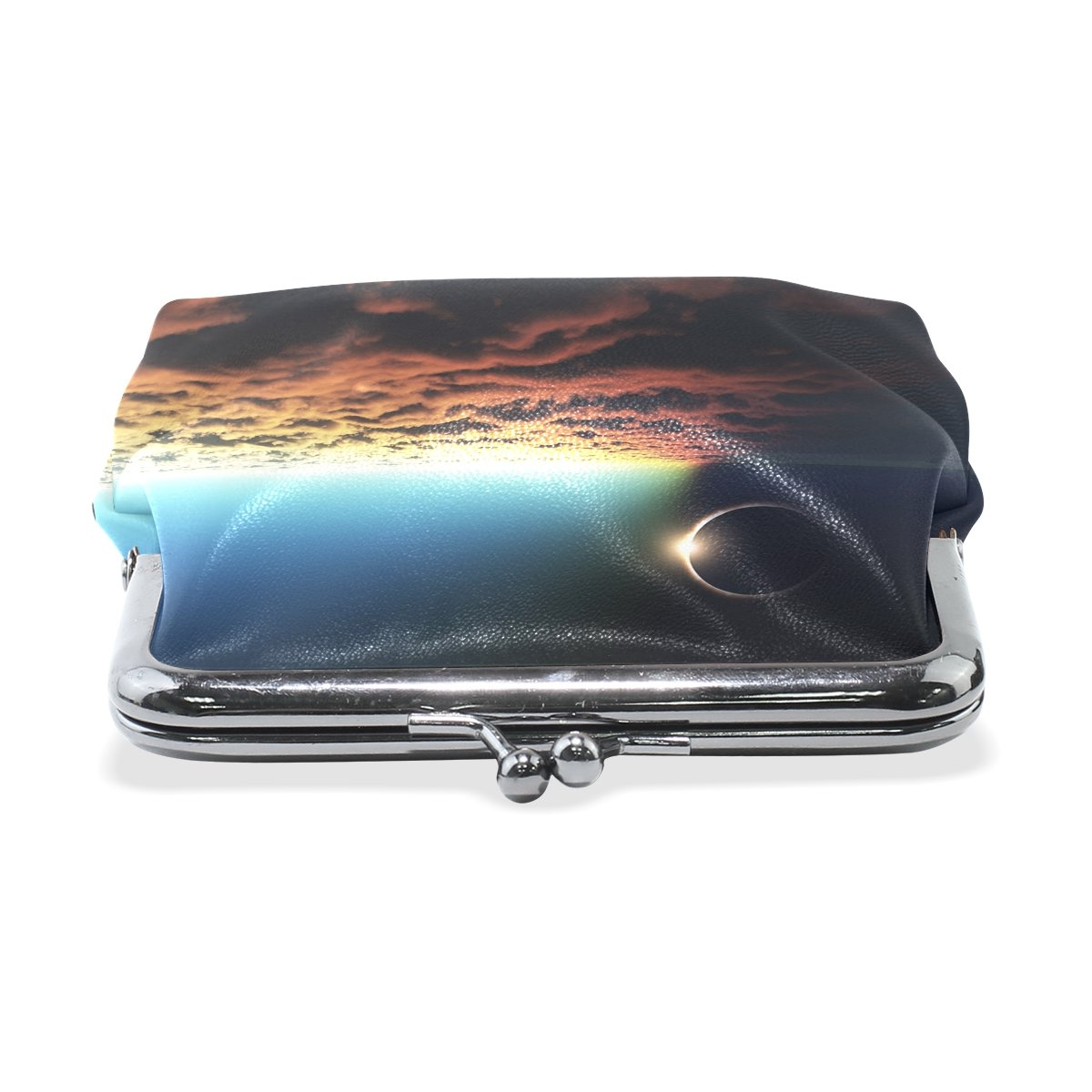Amazon.com: vipsk Total Eclipse Solar Cielo Azul Coin Wallet ...