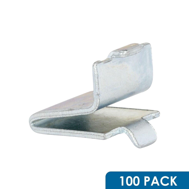 100 Pack Zinc Rok Hardware Adjustable Steel Pilaster Shelf Support Clip