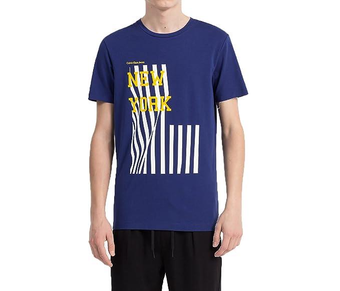 Calvin Klein Jeans T-Shirt Man TANAV Slim Tee J30J306895 m Blue