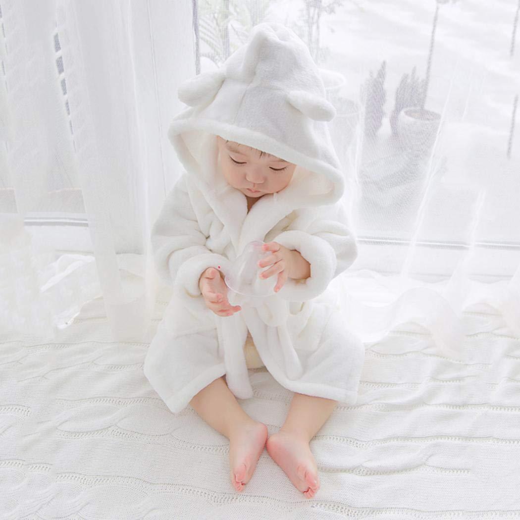 Pinsparkle Baby Infant Casual Hooded Long Sleeve Cotton Bath Nightwear Robe
