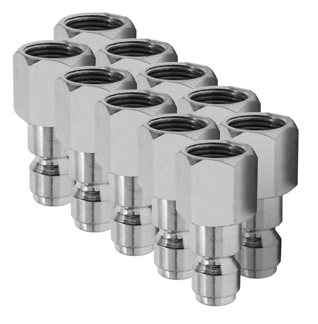 Hot Max 28134 Industrial//Milton 1//4-Inch x 1//4-Inch Male NPT Plug 10-Pack