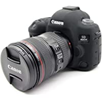 NEOHOOK Canon 5D Mark IV Camera Case, Professional Silicone Rubber Camera Case Cover Detachable Protective for Canon 5D Mark IV - Black