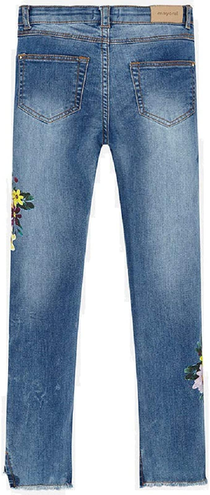 Mayoral 6503 Pantaloni Lunghi in Jeans da Bambina Modello
