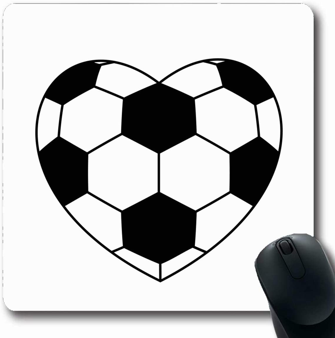 Luancrop Alfombrillas para computadoras Amor Balón de fútbol ...