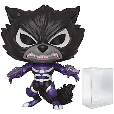 Funko Pop Marvel: Venom - Venomized Rocket Raccoon Pop! Vinyl Figure (Includes Compatible Pop Box Protector Case): Toys & Games
