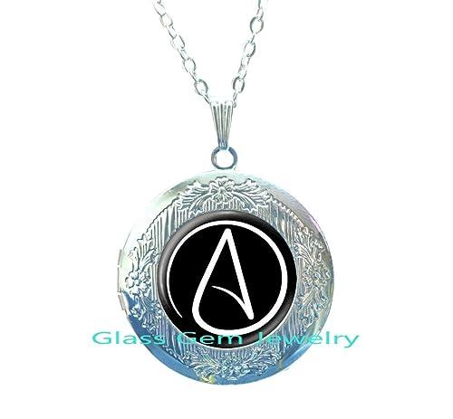 Atheist symbol locket necklace atom locket pendant atheist jewelry atheist symbol locket necklace atom locket pendant atheist jewelry no religion locket necklace aloadofball Choice Image
