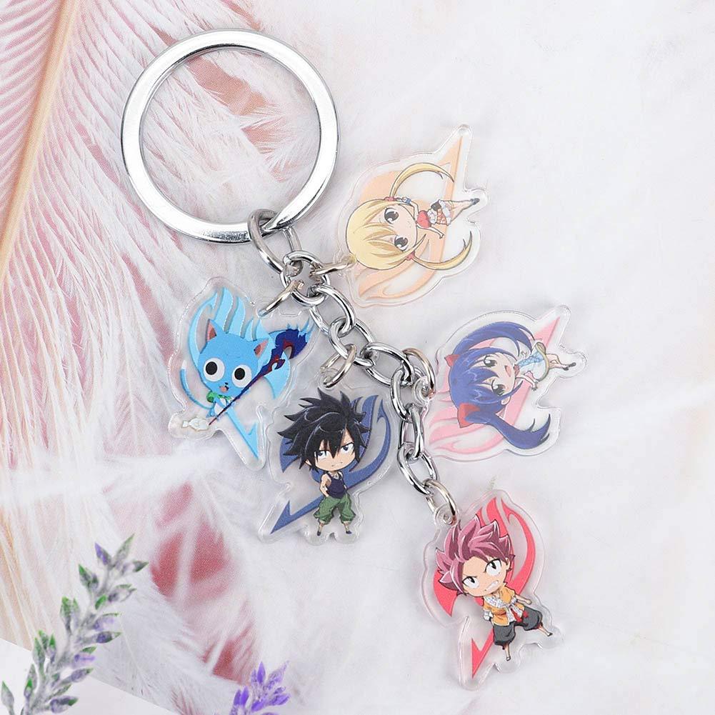 CAR-TOBBY Fashion Anime Fairy Tail Porte-cl/és Pendentifs Keychains Porte-cl/és Cosplay Cadeaux News