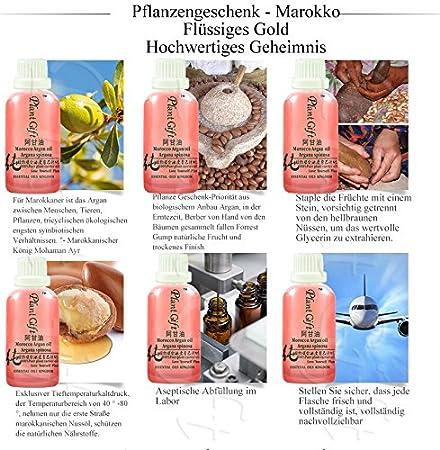 Plant Gift-Argan Aceite base-Espasmos musculares lisos, tratamiento de enfermedades de la piel.-100ml / 3.52oz Plant Gift-Aceite natural de ricino orgánico ...