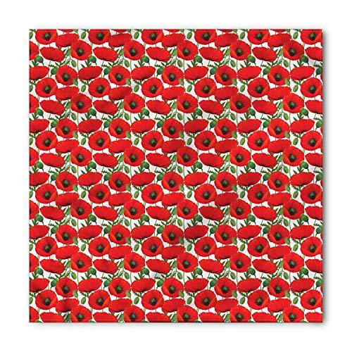 Poppy Bandana, Romantic Poppy Arrangement, Unisex Head and Neck Tie