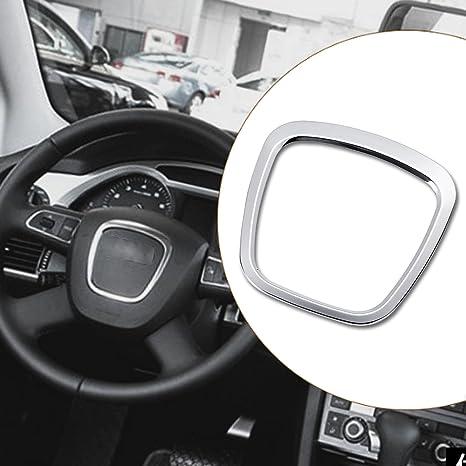 JenNiFer Aleación De Aluminio Coche Volante Pegatina Cuerpo Emblema Trim para Audi A3/A4/