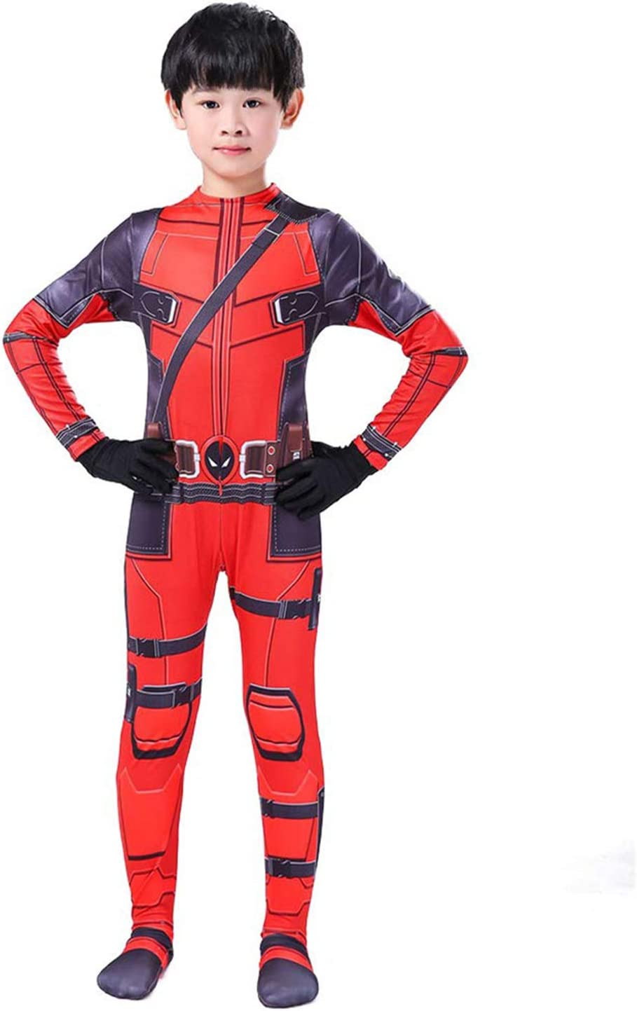 X-Men Anime Costume Cosplay Costume di Halloween Spandex Calze Siamesi Separazione del Copricapo Adatto per Adulti E Bambini,XS Expedition Costume Spiderman 2 Heroes Deadpool