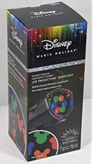 Disney Mickey Mouse Ears LightShow Swirling Multicolor LED Christmas Spotlight Projector