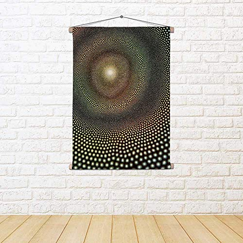 - ArtzFolio Abstract Picture Named Impulse Satin Painting Tapestry Scroll Art Hanging 18 X 24.3Inch