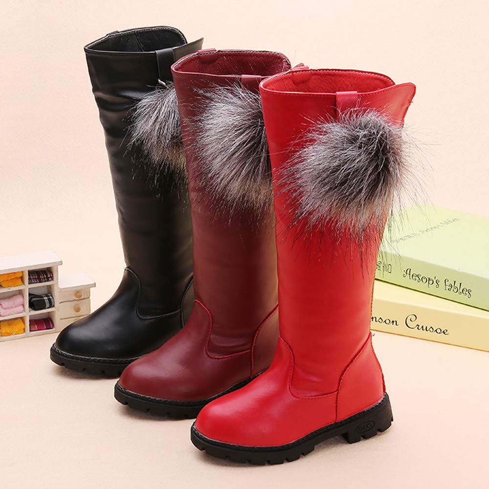 ffa1a870 Baby Toddler Girls Fall Winter Knee High Boots Winter Shoes 3-10 Years Old  ...