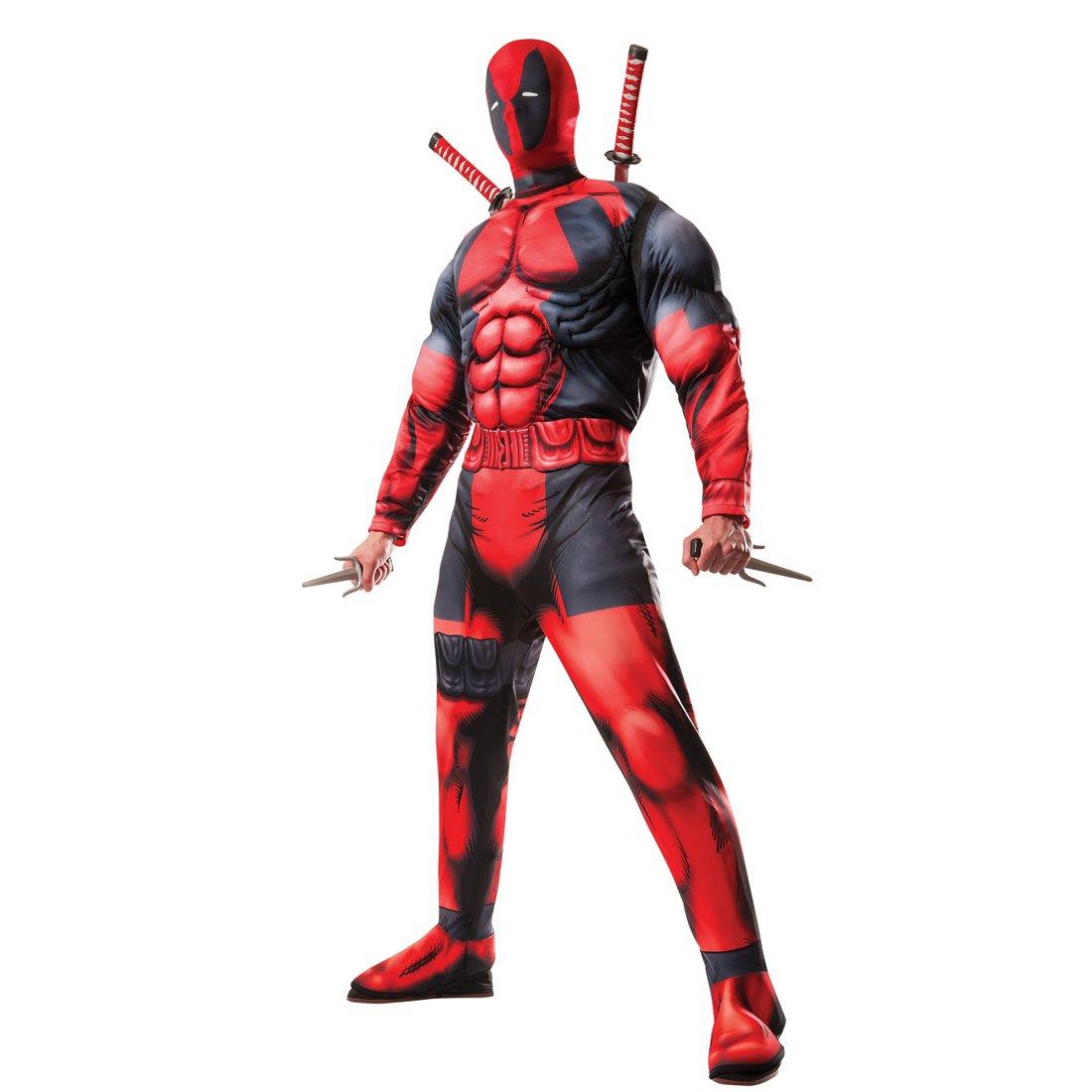 Amakando Herrenkostüm Superheld - STD (48 - 52) - Deadpool Anzug Herren Marvel Heldenkostüm Männer Superhelden Kostüm Superhero Outfit Erwachsene Deadpool Kostüm mit Maske