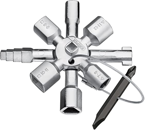 Knipex Tools LP – 1101 Twin Key Universal Control Cabinet Key, Chrome