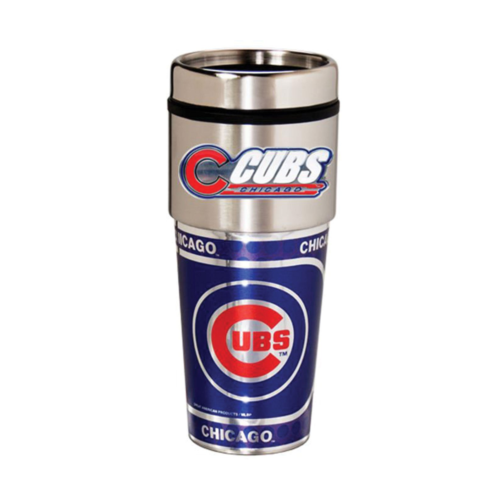 Great American Products Chicago Cubs 16oz. Stainless Steel Travel Tumbler/Mug by Great American Products