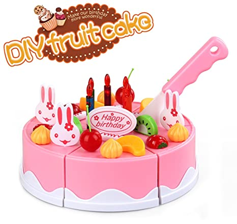 Buy Webby Musical DIY Birthday Cake Toy 37 Pieces Online At Low Prices In India