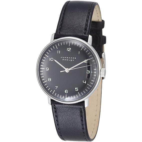 Junghans MAX BILL 027/3702.00 - Reloj de caballero automático, correa de piel color negro: Amazon.es: Relojes