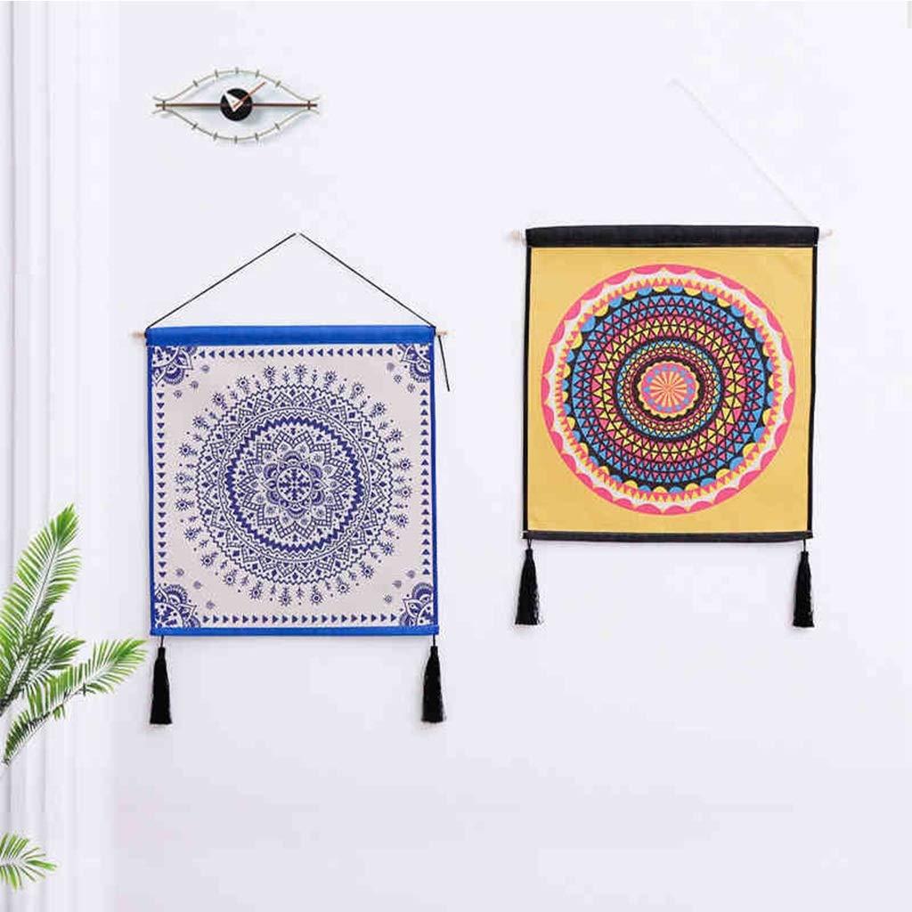 Colore : E Decorazione Decorativa della Parete della Tela Cerata della Pittura della tappezzeria guarnita tricottata Ampia 45CM Alto 50CM LIMING-arazzo Tapestry
