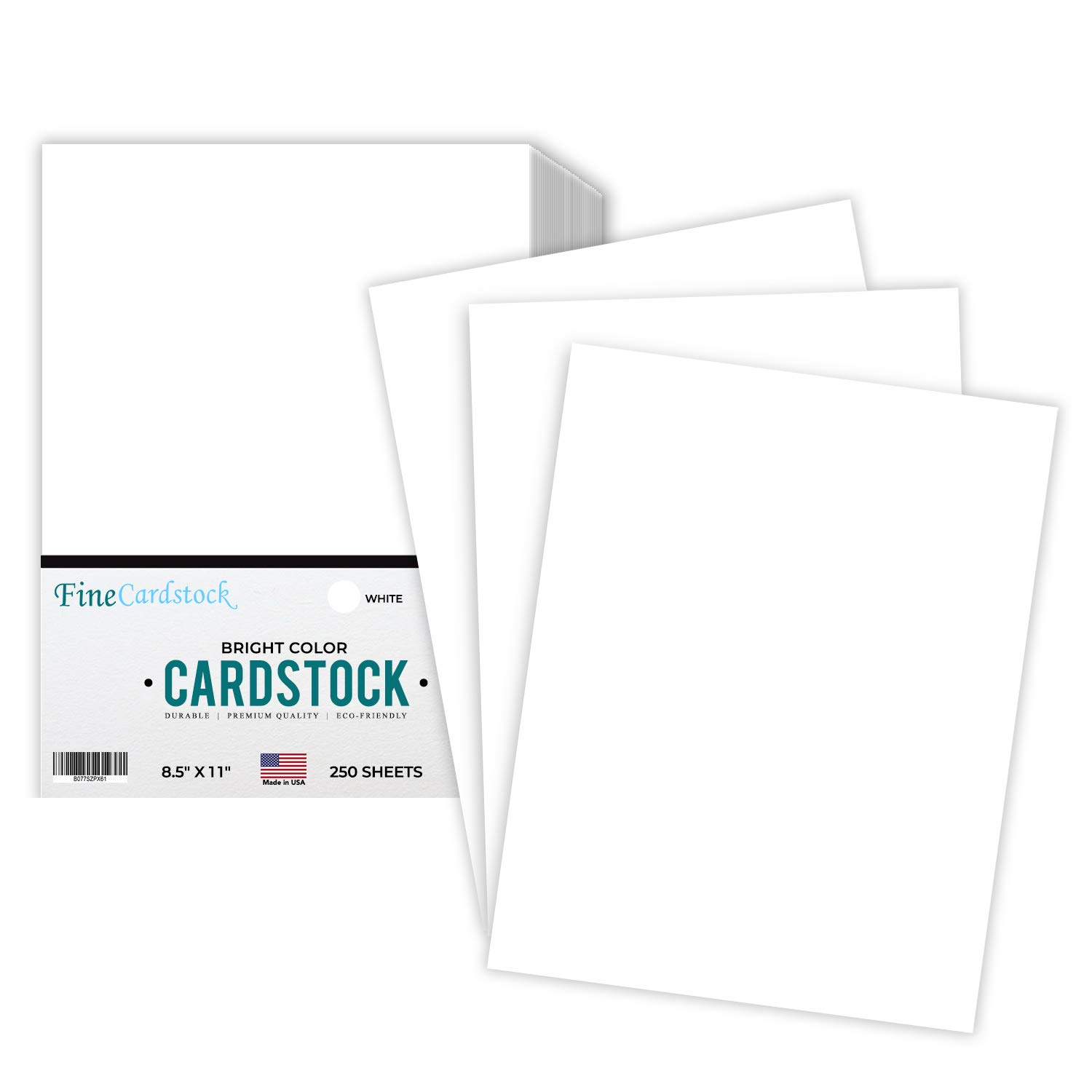 Premium Color Card Stock Paper | 250 Per Pack | Superior Thick 65-lb Cardstock, Perfect for School Supplies, Holiday Crafting, Arts and Crafts | Acid & Lignin Free | Bright White | 8.5 x 11 by S Superfine Printing
