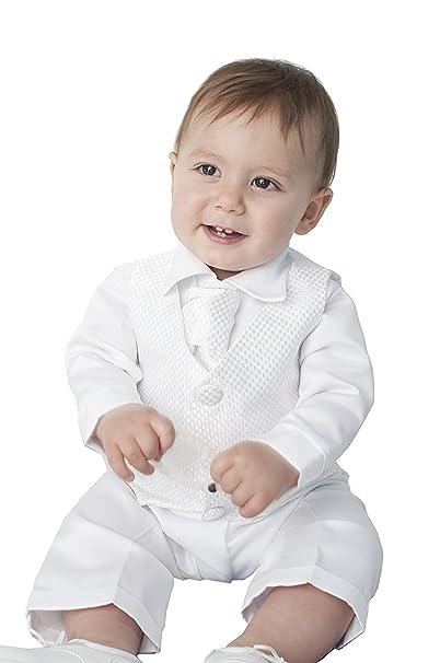 Amazon.com: newdeve Baby-Boys Marfil trajes para bautizo ...