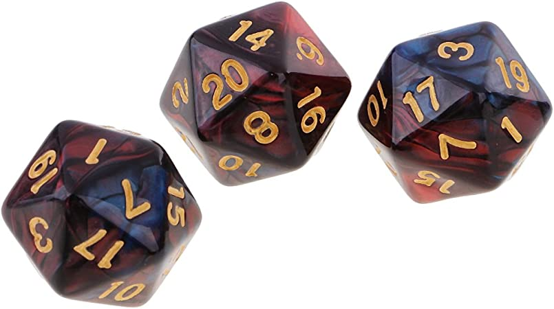 10PCS 20 Sided Dice D20 Polyhedral Dice for   MTG RPG