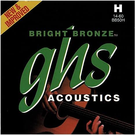 GHS BRIGHT BRONZE 014/060 - Juego de cuerdas para guitarra ...