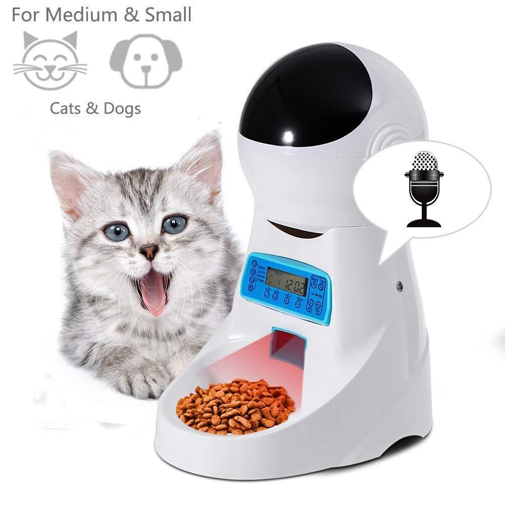 Animale domestico Gatto e cane automatico Feeder, Con il video E registrazione sincronizzazione quantitativo animale domestico Alimentatore A prova di umidità disegno moda Gatto e cane Alimentatore 4L