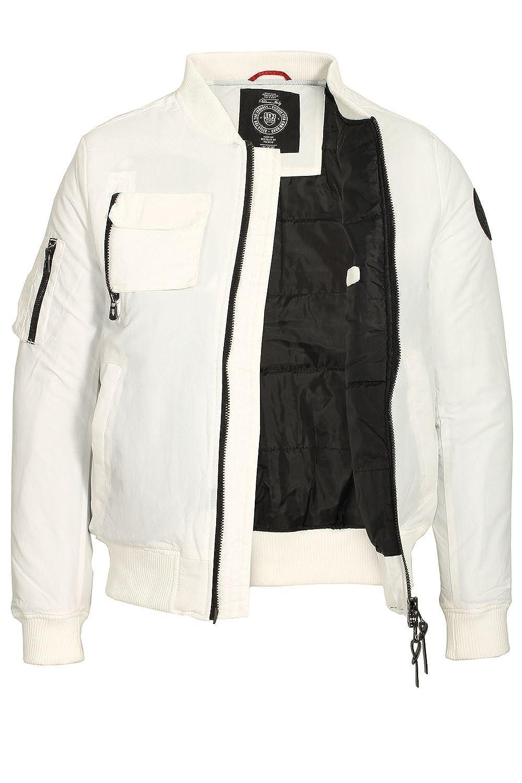 883 POLICE Moscat MA1 Bomber Jacket | White