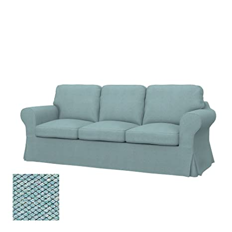 Soferia Replacement Cover for IKEA EKTORP 3-seat Sofa, Fabric Nordic Sea Green