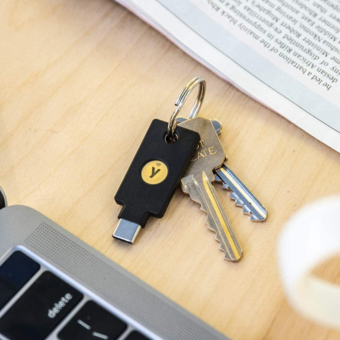 YubiKey 5C NFC Fits USB-C Ports and Works with Supported NFC Mobile Devices Protect Your Online Accounts with More Than a Password Two Factor Authentication USB and NFC Security Key Yubico