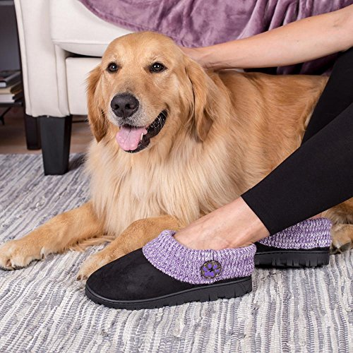 Purple Paw Comfy Clog Slippers Purple 0283O