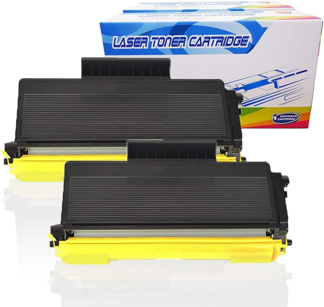 Black, 2-Pack Inktoneram Compatible Toner Cartridges Replacement for Brother TN650 TN620 TN-650 TN-620 DCP-8080DN DCP-8085DN HL-5340D HL-5370DW HL-5370DWT MFC-8480DN MFC-8890DW