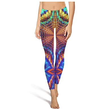 8bd6b030c87d3 Amazon.com: XIdan-die Womens Yoga Pants Spiral Psychedelic Colorful (20)  Workout Running Leggings: Clothing