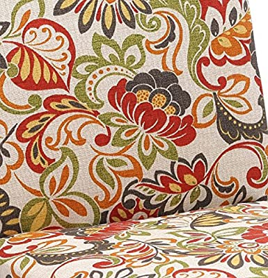 Pillow Perfect Indoor//Outdoor Multicolored Modern Floral Square Seat Cushion,