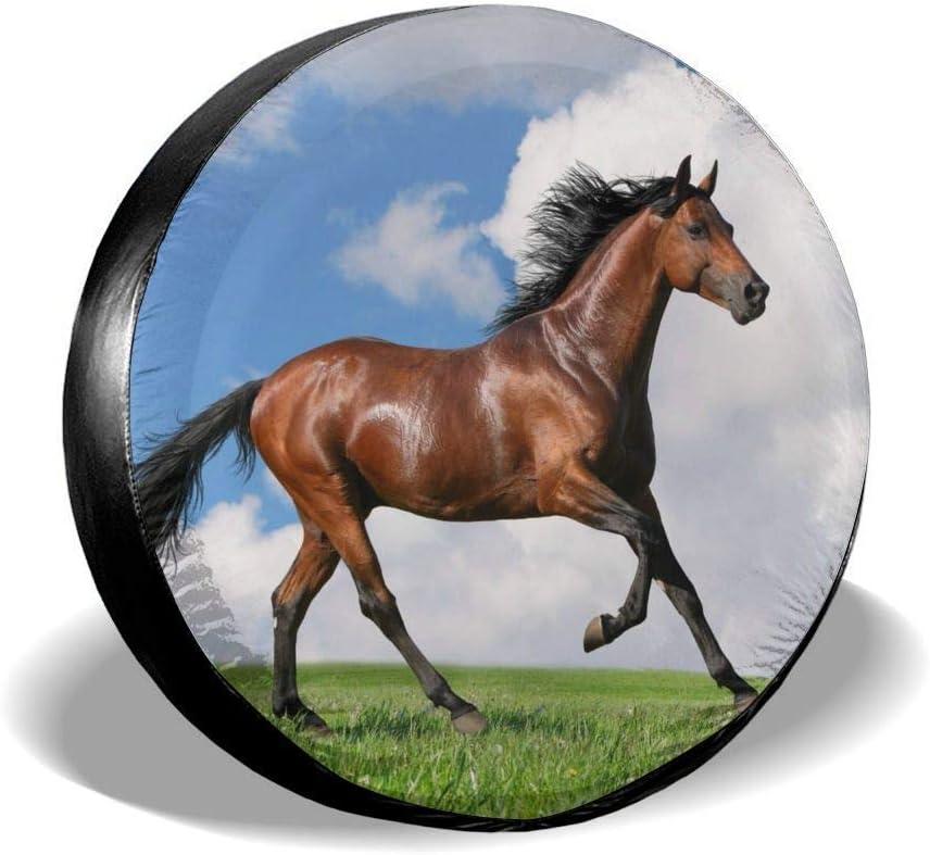 Enoqunt Cubierta de neumático de Repuesto para Caballo Cubierta de neumático de Rueda de Repuesto Universal a Prueba de Agua a Prueba de Polvo