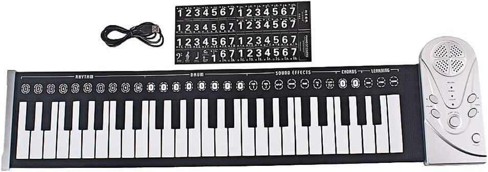 Teclado de piano plegable con 49 teclas, un juguete perfecto ...