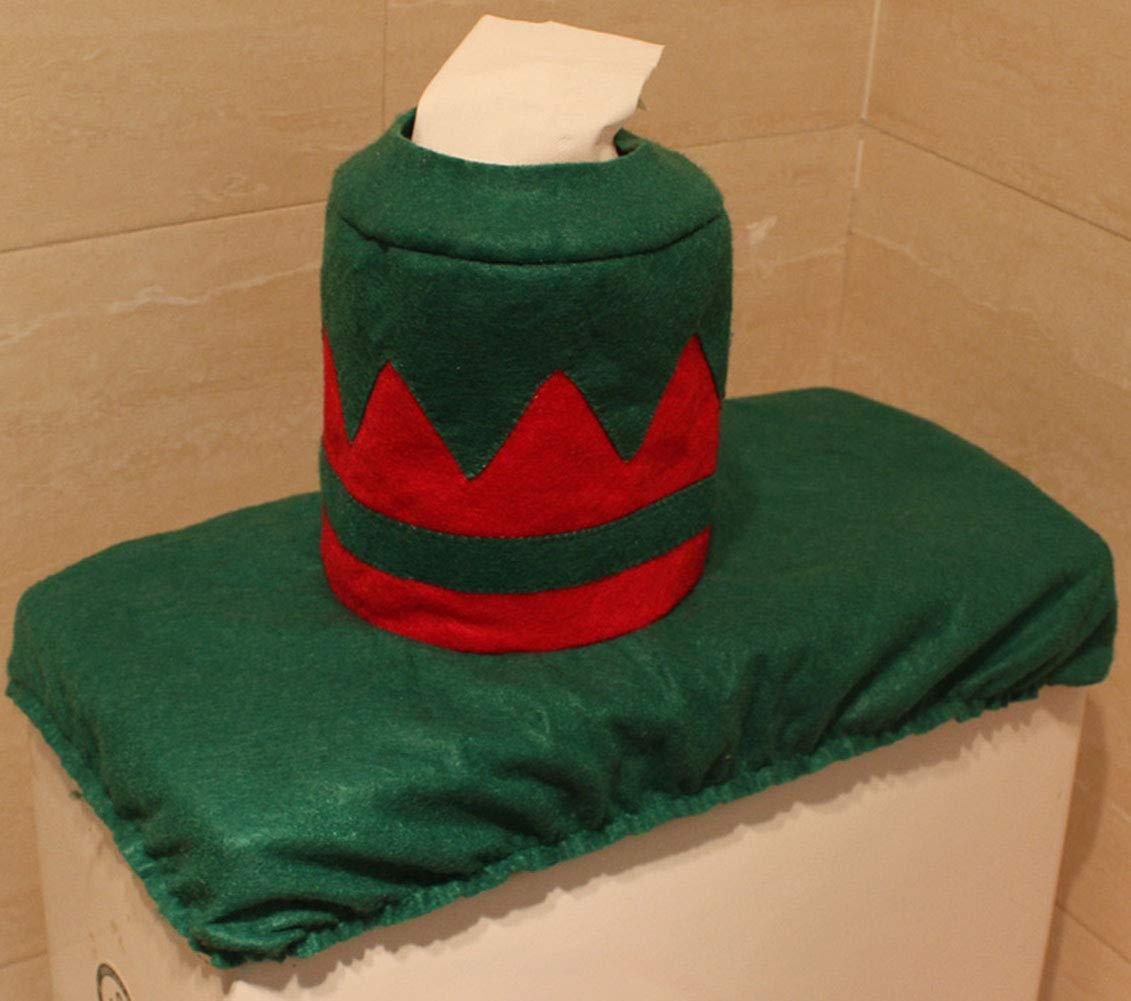 party /& accessories Decorazioni di Natale Babbo Natale Cervo coperchio rivestimento e tappeto bagno Set WC Sedile WC con absenkautomatik gioielli di Natale Deer HESHIFENG pupazzo di neve