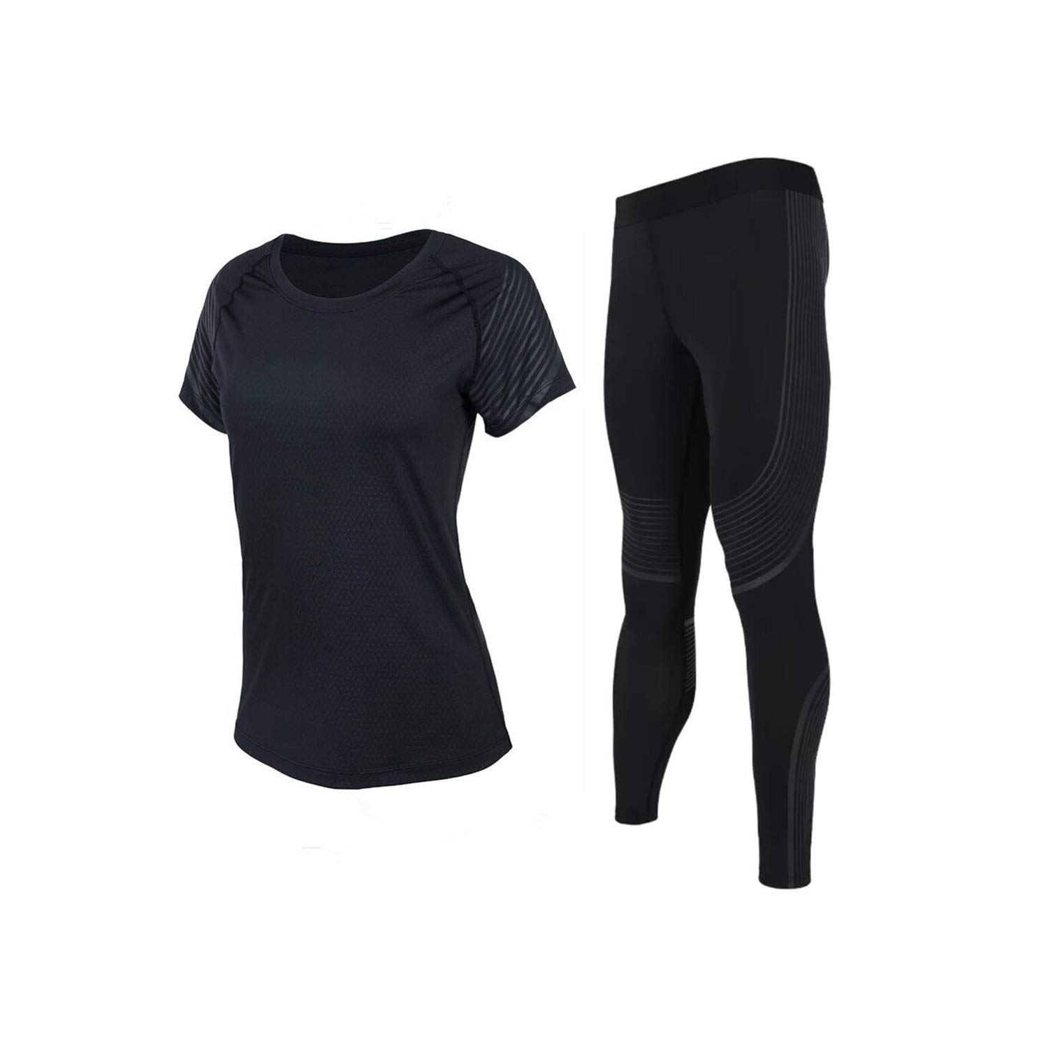 TC023 WBeauty Women's Yoga Clothes Set Running Tights Sportswear Quick Dry