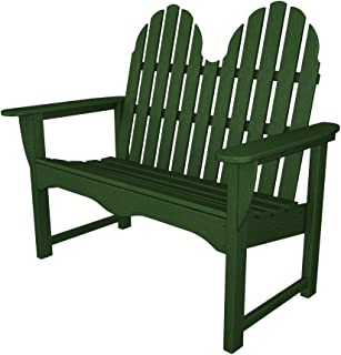 """product image for POLYWOOD ADBN-1GR Classic Adirondack 48"""" Bench, Green"""