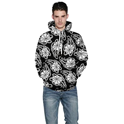 Amazon.com: Funny Octopus 3D Printed Hoodies Men Women Sweatshirts Casual Hoodie Pullover Harajuku Hip Hop Tracksuit Male: Clothing