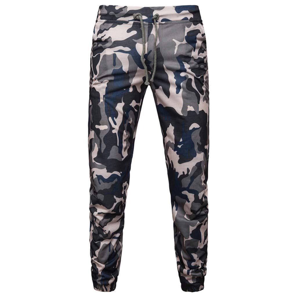 SOMESUN pantaloni Sportivi Slim Fit Pantaloni Chino Uomo da Trekking Funzionali Esterno Durevoli Camouflage Stampato per Sport E Tempo Libero dalla vestibilit/à Regolare