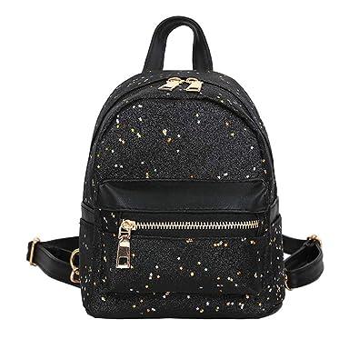 Fashion Leather School Bag Travel Cute Backpack Satchel Shoulder Rucksack Black