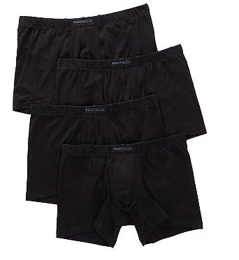 0d7aaf054dd1 Perry Ellis Portfolio - Men's Cotton Stretch Boxer Briefs 960587 (4 Pairs)  (Small, Black/Black/Black/Black) at Amazon Men's Clothing store: