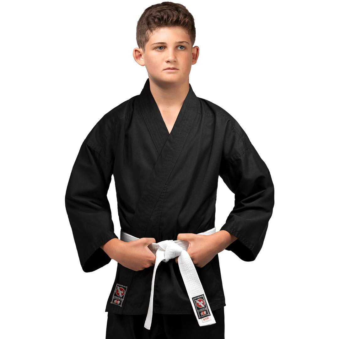Hayabusa | Youth Cotton Karate Gi Uniform | Black, 0/130 by Hayabusa
