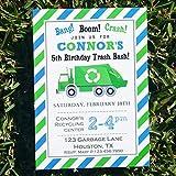 Garbage Truck Invitation Printable or Printed - Trash Bash Collection