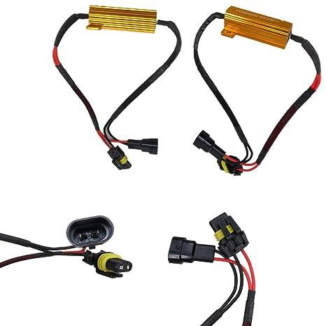 WLJH 9006 HB4 50W 6Ohm luces LED Resistencias de carga Errores de reparación del adaptador Parpadeo